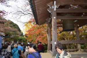 鐘突き堂と紅葉