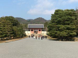 仁和寺山門後方の広場