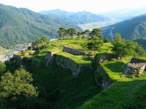 竹田城を見下ろす