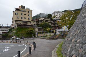 伊香保の階段手前の広場