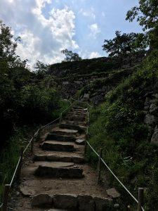 竹田城の結構しんどい階段