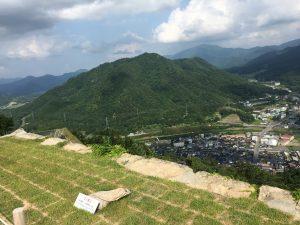 竹田城から見下ろしたところ