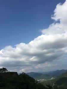 竹田城から大空を
