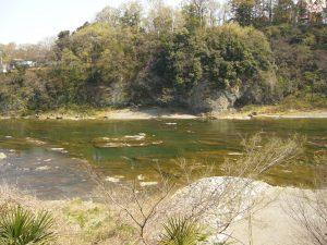 京亭から見る鉢形城