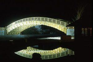 木曾の大橋 ライトアップ