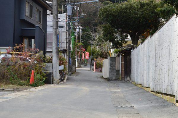 佐助稲荷への道
