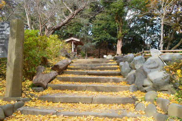 葛原岡神社の石段