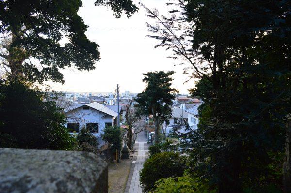 甘縄神明神社高台の景色
