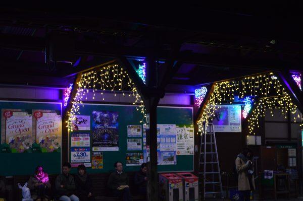 長谷駅 ライトアップ