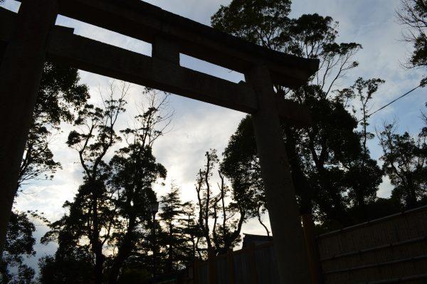 白旗神社の近くの鳥居