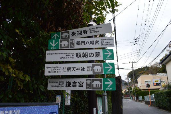 鎌倉案内板