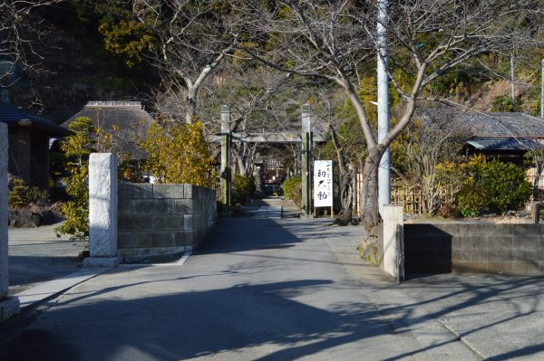 明王院前の道路