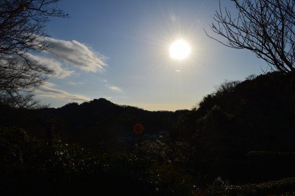 浄妙寺高台から見た太陽