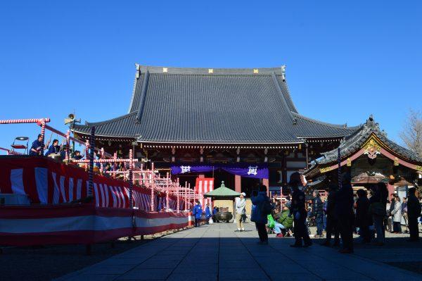 池上本門寺の節分と大堂前