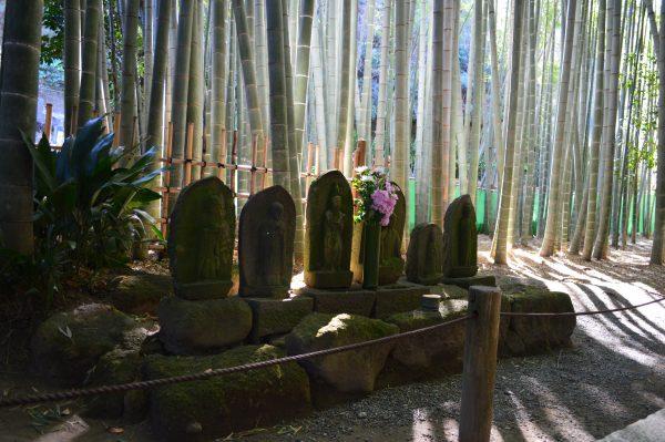 竹の庭 地蔵
