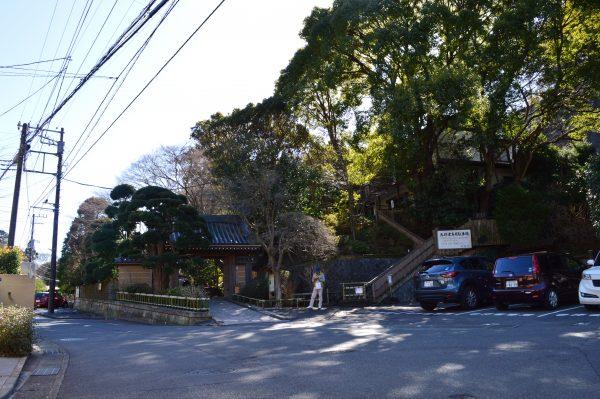 報国寺 入口付近