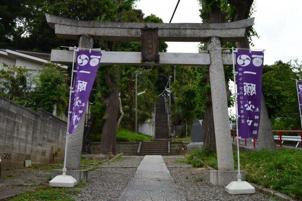 太田神社へのアクセス 太田神社鳥居前