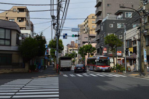 太田神社へのアクセス 本門寺裏参道交差点