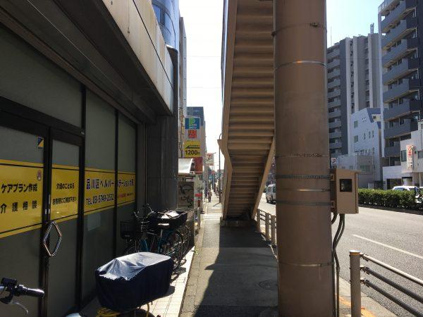 国道1号線 中延駅A2出口付近
